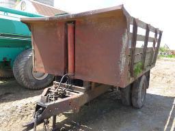 dump-trailer-on-truck-frame-6-wheels