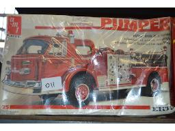 1-x-fire-engine-1-double-decker-bus-model-kits