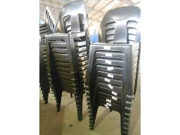 black-stacking-chairs