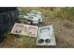 lot-assorted-sinks-toilets-stoves-galvanised-steel